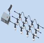 15 Meters LED Bulb String 0